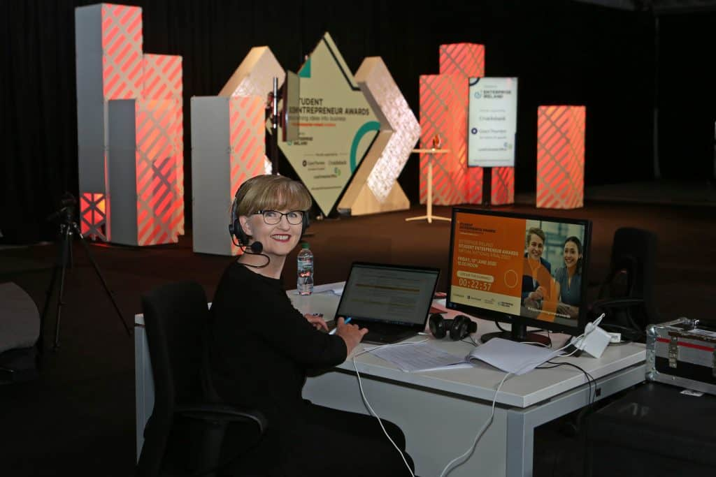 Enterprise Ireland Student Entrepreneur Awards Virtual National Final 2020. Producer: Karen Devine  Image - Jenny Matthews